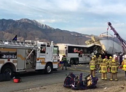 13 dead, at least 31 injured in tour bus crash in Desert Hot Springs