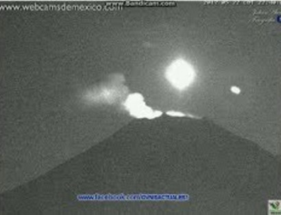 Over the volcano Popocatepetl flew a UFO