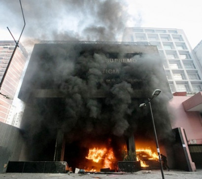 In Venezuela set fire to the building of the Supreme court