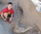 10 year-old trips into million-year-old dinosaur fossil discovery in New Mexico