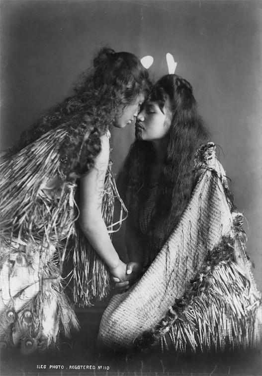 Մաորի ցեղի կանայք՝ իրենց ավանդական հագուստներով ու յուրահատուկ դաջվածքներով