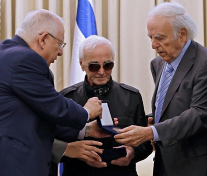 Charles Aznavour Receives the Raoul Wallenberg Award in Israel