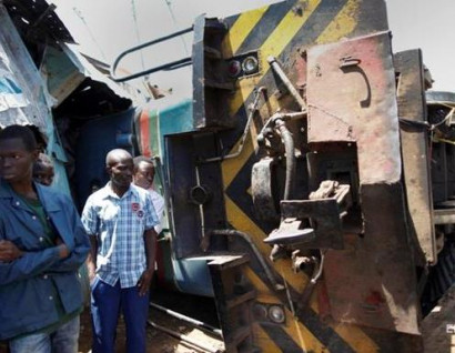 In the Congo from the derailed train, over 30 dead