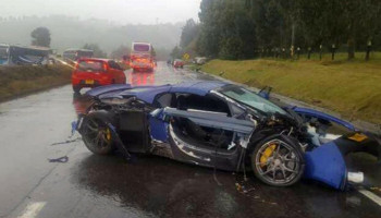 McLaren 650S, Mercedes-AMG GT S, And Porsche Boxster Crash In Colombia