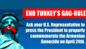 Ask your U.S. Representative to Press President Trump to Properly Commemorate the Armenian Genocide