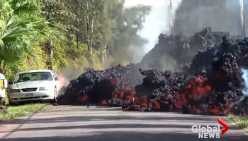 Watch Lava From The Kilauea Volcano Swallow A Ford Mustang In Hawaii
