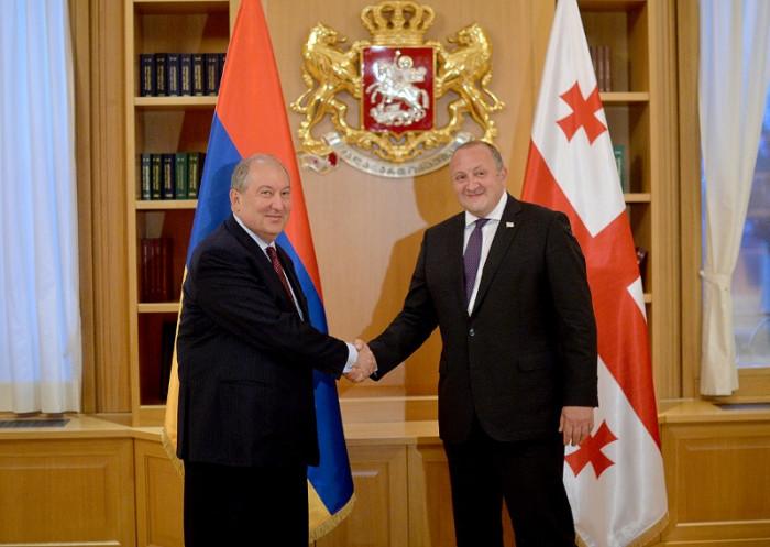 Արմեն Սարգսյանը հանդիպում է ունեցել Վրաստանի նախագահ Գեորգի Մարգվելաշվիլիի հետ