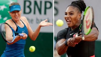 Серена Уильямс снялась с матча против Шараповой на Roland Garros