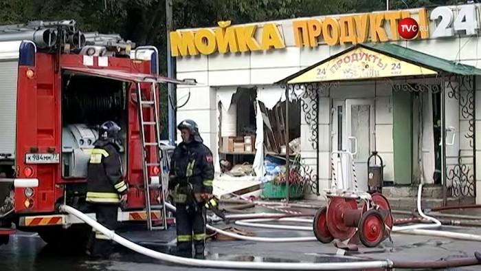 В Москве при взрыве в кафе ранены азербайджанцы