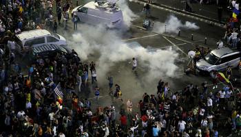 Число пострадавших в ходе протестов в Румынии выросло до 440