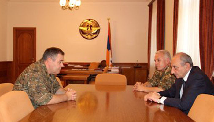 Meeting with head of the General Staff of the Armenian Armed Forces Artak Davtyan