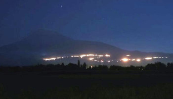 Թուրքիայում չեն կարողանում մարել Արարատ լեռան լանջին բռնկված հրդեհը