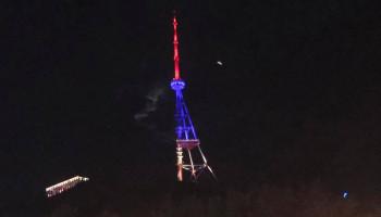 Թբիլիսիի հեռուստաաշտարակը լուսավորվել է ՀՀ դրոշի գույներով (տեսանյութ)