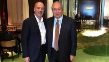 Արմեն Սարգսյանը հանդիպել է «Օրանժ» ընկերության գլխավոր տնօրենի հետ