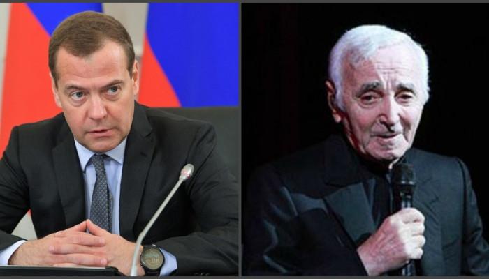 Медведев выразил глубокие соболезнования в связи со смертью Шарля Азнавура