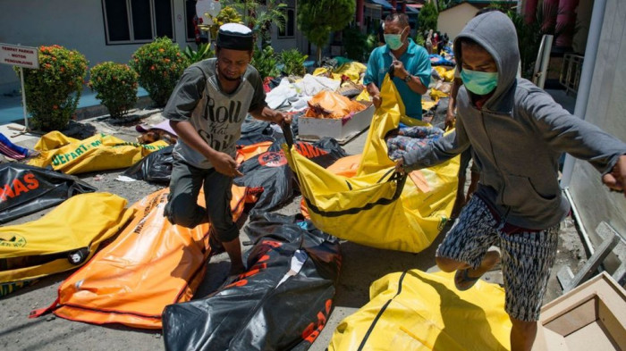 Indonesia earthquake and tsunami: Desperate search for survivors