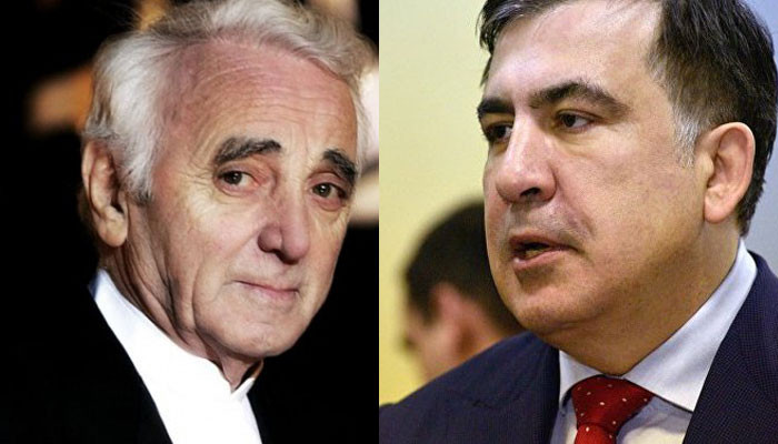 """What a loss for humanity"": Mikheil Saakashvili about Charles Aznavour"