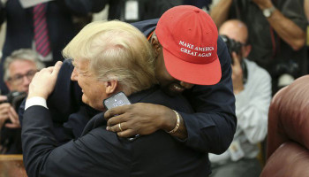 Kanye West said his 'MAGA' hat makes him 'feel like Superman' during meeting with President Trump