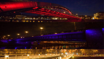 Vilnius dresses up in Armenian tricolour