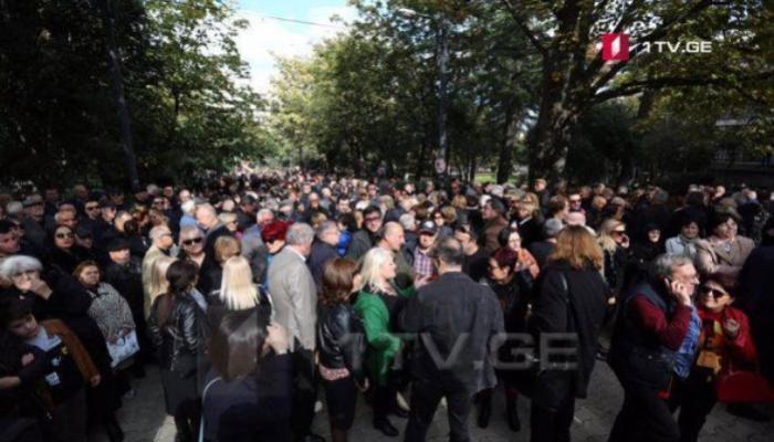 В Тбилиси прошла акция против Саакашвили «Нет Мише»
