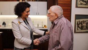 Աննա Հակոբյանն այցելել է Արմեն Ջիգարխանյանին