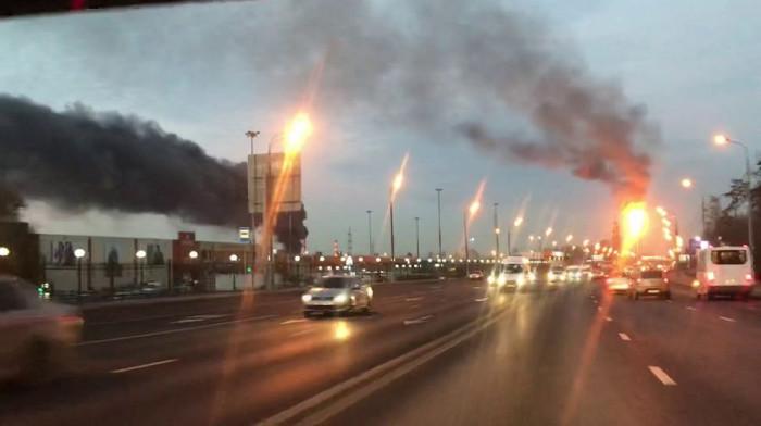 Пожар на Московском нефтеперерабатывающем заводе