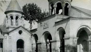 «Սուրբ Զորավոր եկեղեցին և Սուրբ Անանիայի մատուռը՝ 1970-ականներին». Ռուբեն Շուխյան