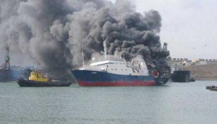 Հունաստանի ափերի մոտ թուրքական նավ է այրվել