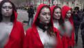 Ելիսեյան դաշտերում մերկ կրծքով կանայք բողոքի ակցիա են անցկացրել
