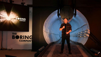 Elon Musk's first Boring Company tunnel