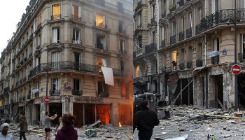 Suspected gas leak triggers major blast in central Paris