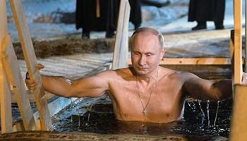 Vladimir Putin buz gibi suya girdi