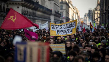 "The demonstration of unions and ""yellow vests"" gathered 300 000 people"