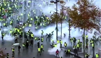 Thousands mark 3 months of France's 'yellow vest' protests