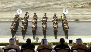 Абу Даби 2019 почетный караул и оркестр Армении на открытии выставки вооружений