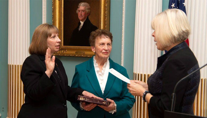 Lynne M. Tracy was officially sworn