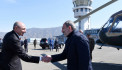Bako Sahakyan met in the Stepanakert airport Armenian premier Nikol Pashinyan