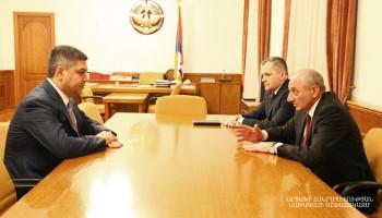 Бако Саакян принял директора СНБ Армении Артура Ванецяна
