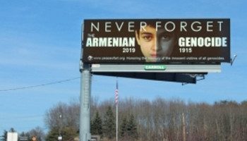Armenian Genocide commemorative billboards installed in Massachusetts