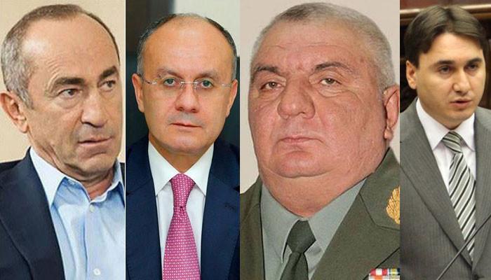 Дело Роберта Кочаряна, Сейрана Оганяна, Юрия Хачатурова и Арама Геворкяна направлено прокурору