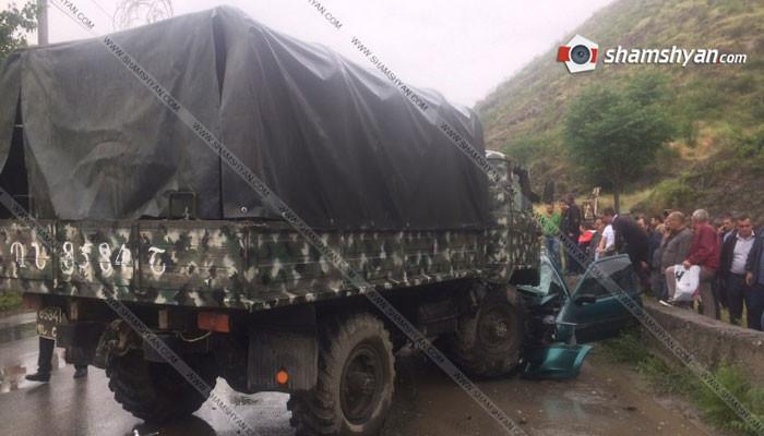 Трагическое ДТП в Сюникской области: 1 человек погиб, трое ранены
