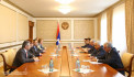 Meeting with the delegation headed by president of the Armenian Constitutional Court