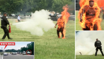 A man who set himself on fire near the White House has died