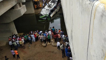 29 dead as Delhi-bound bus falls into drain on Yamuna Expressway, several injured
