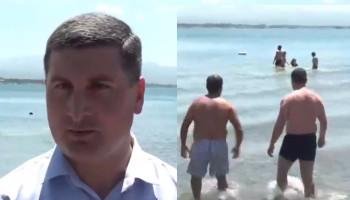 Գեղարքունիքի մարզպետը լողաց Սևանա լճում՝ ապացուցելու համար, որ ջուրն անվտանգ է