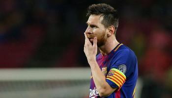Messi suffers calf injury on return to Barcelona training