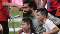 Mohamed Salah and Liverpool team-mates train with amputee children from UEFA Foundation
