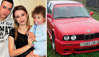 Mother is accidentally killed by her two-year-old daughter after she closed BMW window by pressing button while being lifted out of car in Belarus