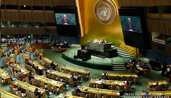 Никол Пашинян с трибуны ООН обратился с призывом к Ильхаму Алиеву