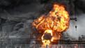 Güney Kore'de kargo gemisinde yangın